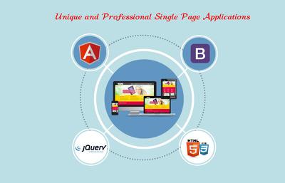 Design professional SinglePageApplication with angularJS