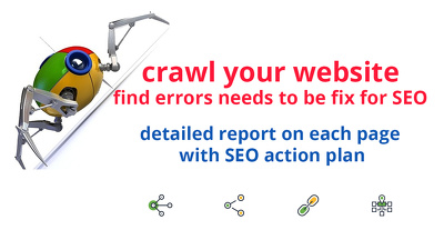 Crawl your website and find errors needs to fix for SEO