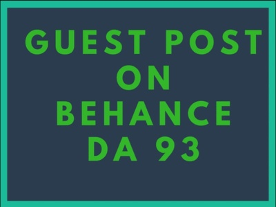Publish Guest Post On Behance DA 93 Manually