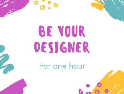 Be your Graphic designer/motion designer for an hour