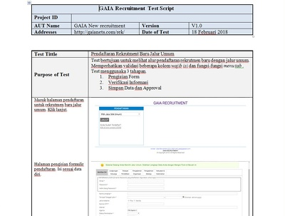 Test your web or apps and compile it as User Test Acceptance.doc