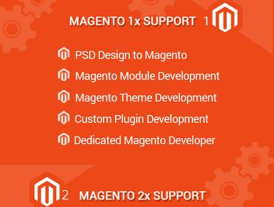 Install magento, fine-tune it, upload & configure your theme