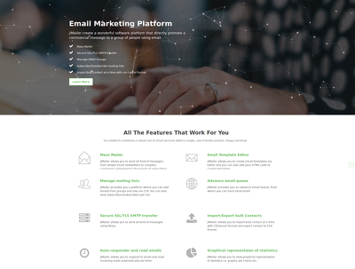 Design & develop Email Marketing  Platform