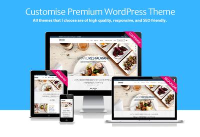 Customise Premium WordPress Theme to your specification