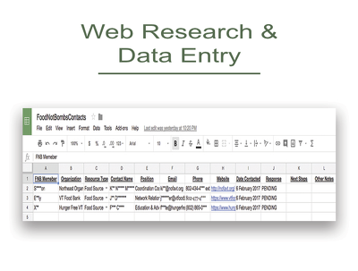 High quality data research for 500 contacts