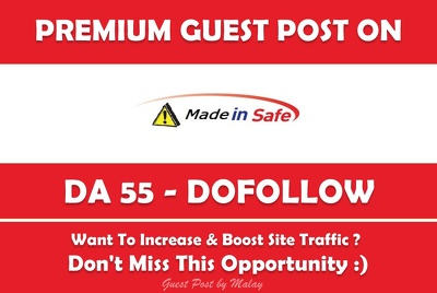 Write & Publish Guest Post on Made-in-safe.com - DA 55