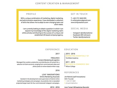 Edit and re-design your resume or cover letter!