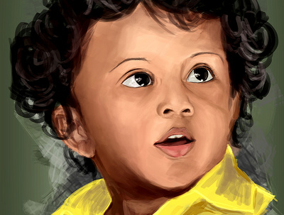 Digital Portrait Painting for Wall decor and Gifting Purpose.