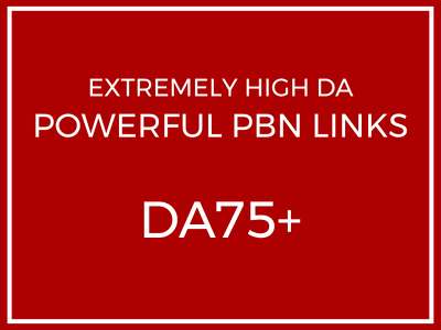 (70% OFF!!) Post Extremely HIGH DA75+ Permanent PBN Backlinks