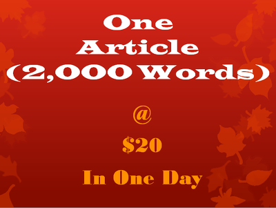 1 SEO article (2,000 words)