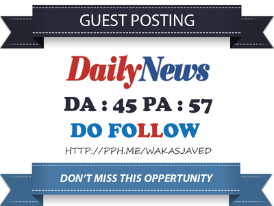 Publish Dofollow Guest Post on US News Paper - Dailynewsen.com