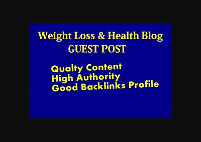 I will post your article in my weight loss and health blog