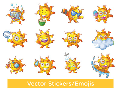 create a set of vector Stickers for your app or project