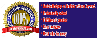 Youtube SEO FIRST PAGE GUARANTEE or FULL RFUND