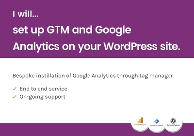 Set up GTM and Google analytics on your WordPress site