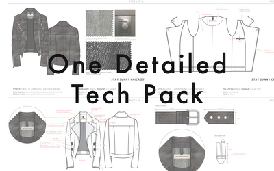 Create One Technical Package of your clothing