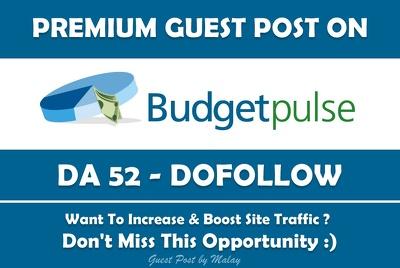 Publish Guest Post on BudgetPuls. Blog.Budgetpulse.com- DA 52