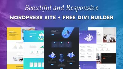 Create a beautiful-responsive WordPress site + Free Web Builder