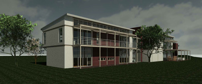 Create 3D perspective renders of your building (up to 750m²)