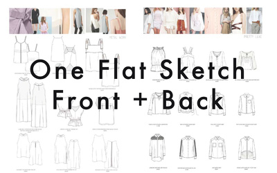 Draw One Front and Back sketch on Illustrator