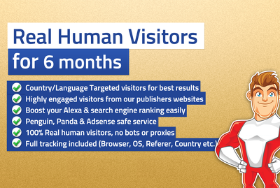 Unlimited GEO TARGETED real human Website TRAFFIC for 6 months