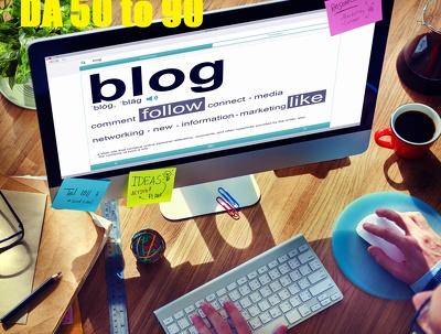 10 unique guest blog posts on HIGH DA50 - DA94 websites -2018