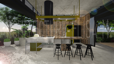 Professional Interior Design and Render of your Kitchen