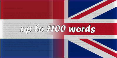 Translate any text (up to 1100 words) from Dutch to English