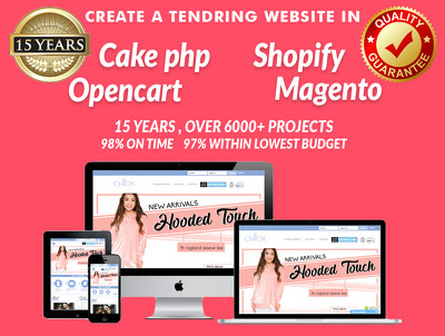 Build you a responsive site in CAKEPHP/MAGENTO/SHOPIFY/OPENCART