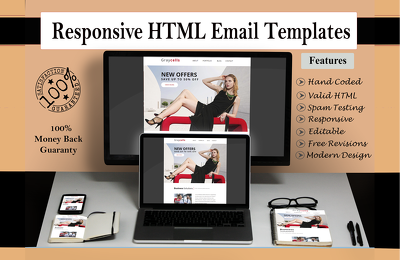 design Eye Catching, Responsive & Editable HTML Email Template