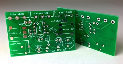 Provide 2 layer PCB along with BOM having max of 20 components.