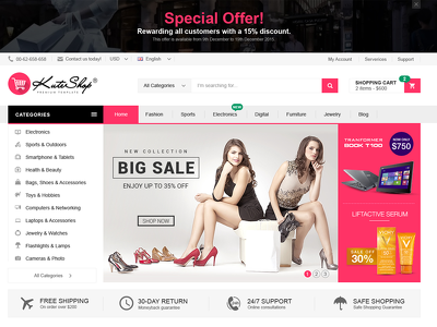 Develop your online shopping website by Kutetheme Fashion