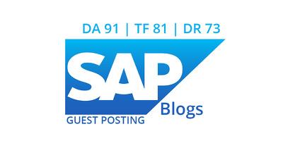 Publish a guest post on SAP blogs - DA91, TF81, DR73