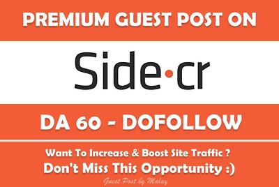 Publish Guest Post on Side. Side.cr - DA 60