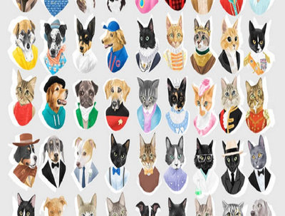 Draw portrait of your pet in any clothes