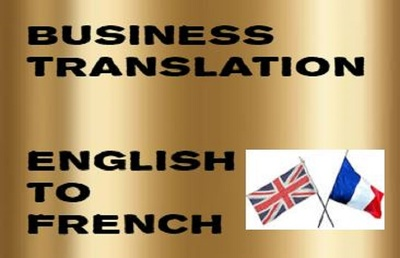 Translate 500 words of Business English into French