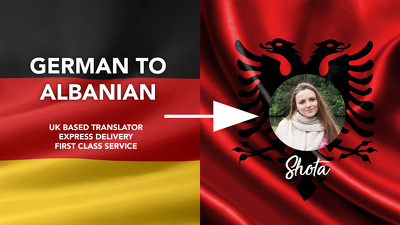 Translate 200 words from German to Albanian