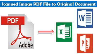 I Will Convert PDF To Word, Excel,  Jpg, Text Or More
