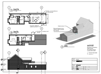 Planning permission drawings , floor plans
