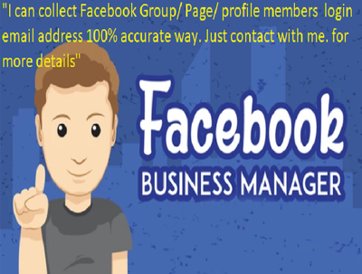 Collect Facebook group/page/profile members login email address