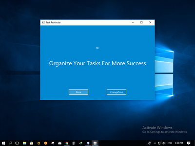 Build you a smart desktop to-do reminder for you