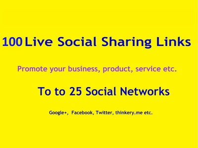 Manuallly100 Live Social Bookmarking Links within 30 hours
