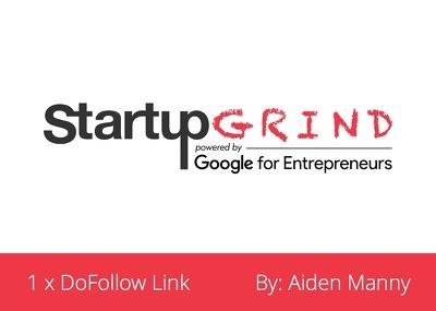Write Guest Post (DA 65) on StartupGrind.com (StartupGrind)
