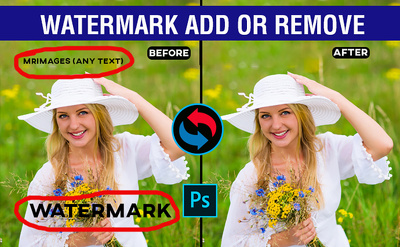 Add or Remove watermark from any 15 Photos or  product in 12 hrs