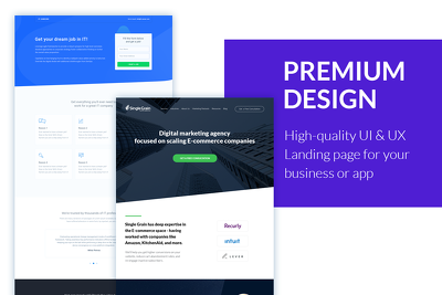 Design a premium UI & UX landing page or homepage