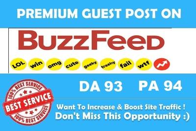 Publish an article on buzzfeed DA,93, PA 94