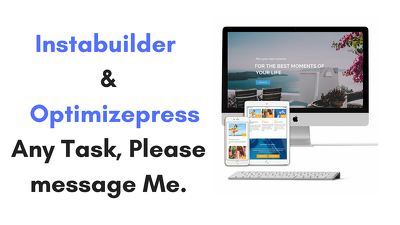 Do All Jobs In Instabuilder And Optimizepress