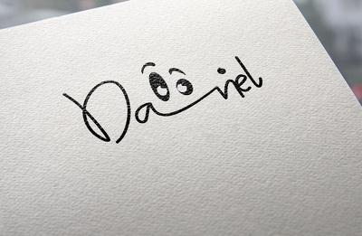Do signature logo with a cute face