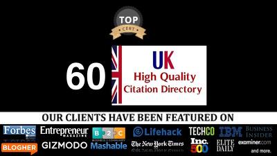 Build 60 Premium Free British Uk Citation : Local Business SEO