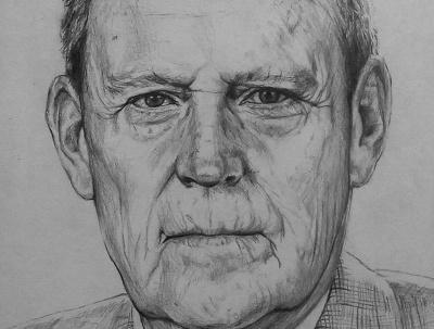 Draw a realistic pencil portrait